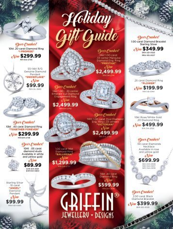 Griffin Jewellery Designs Holiday Gift Guide 2018