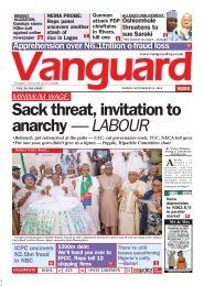 16112018 - Gunmen attack PDP chieftains in Rivers, kill one ALLEGED INDUCEMENT: Oshiomhole threatens to sue Saraki •We'll meet in court —Saraki Sack threat, invitation to anarchy — LABOUR