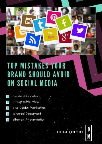 Top Mistakes Your Brand Should Avoid on Social Media