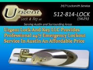 Urgent Lock And Key LLC Provides Professional Emergency Lockout Service In Austin An Affordable Price-converted