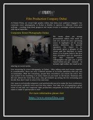 Film Production Company Dubai  Production House in Dubai