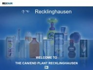 Rexam - Beverage Can Plant Presentation slides - Overview