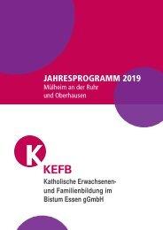 Mülheim-Oberhausen @KEFB Bistum Essen Programm 2019