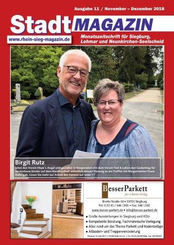 Stadt-Magazin Siegburg, Lohmar, Neunkirchen-Seelscheid - Dezember 2018