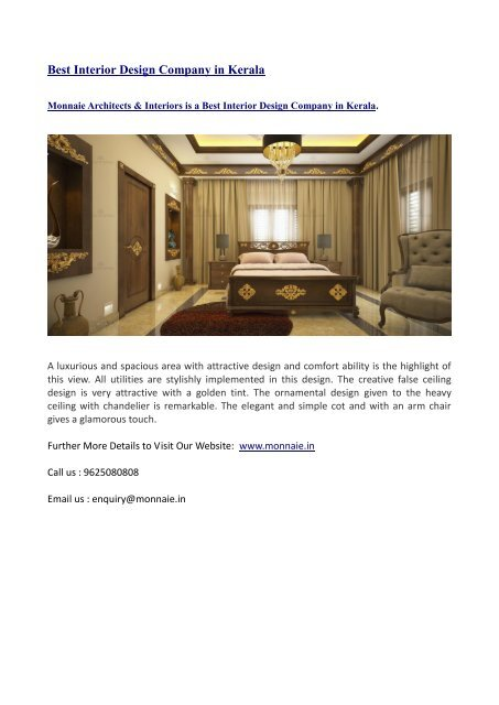 Best Interior Design Company In Kerala Converted