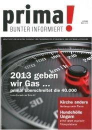 prima! Magazin - Ausgabe März 2013