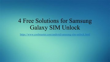 How to Unlock Samsung to Any SIM Carrier