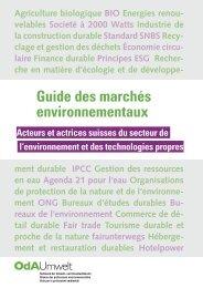 Guide des marchés environnementaux