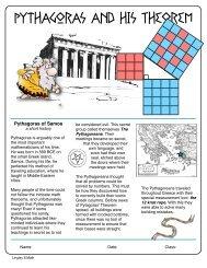 Pythagoras and his Theorem - mrjlingley