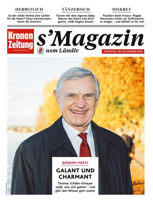s'Magazin usm Ländle, 18. November 2018