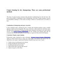 Carpet cleaning by dry shampooing - There are some professional methods