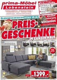 Preisgeschenke im ganzen Haus bei prima-Möbel Lobenstein