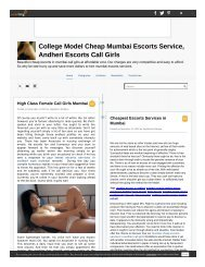 Which is affordable independent female call girls model agency in mumbai