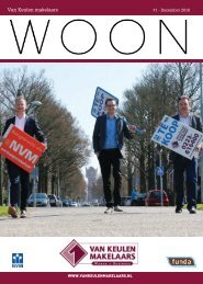 Van Keulen Makelaars WOON magazine, uitgave #1 - december 2018