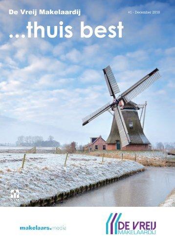 De Vreij Makelaardij Woonmagazine, uitgave #2 - december 2018