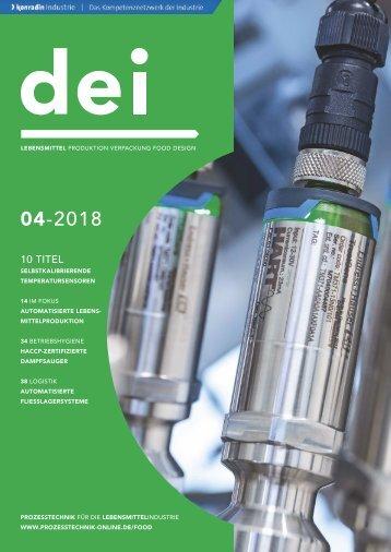 dei - Prozesstechnik für die Lebensmittelindustrie 04.2018