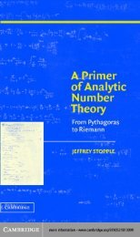 A PRIMER OF ANALYTIC NUMBER THEORY: From Pythagoras to ...