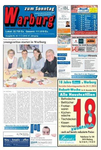 Warburg zum Sonntag 2018 KW 46