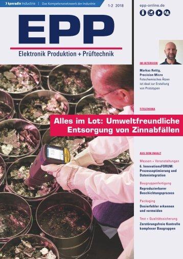 EPP Elektronik Produktion + Prüftechnik 01-02.2018