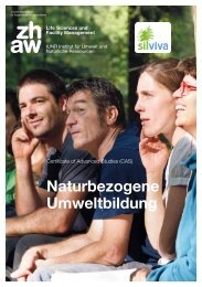 SILVIVA - CAS - Naturbezogene Umweltbildung