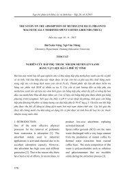 ARTICLE - NGHIÊN CỨU HẤP PHỤ THUỐC NHUỘM METHYLEN XANH BẰNG VẬT LIỆU BÃ CÀ PHÊ TỪ TÍNH (VIETSUB BY NGUYỄN THỊ DUNG)