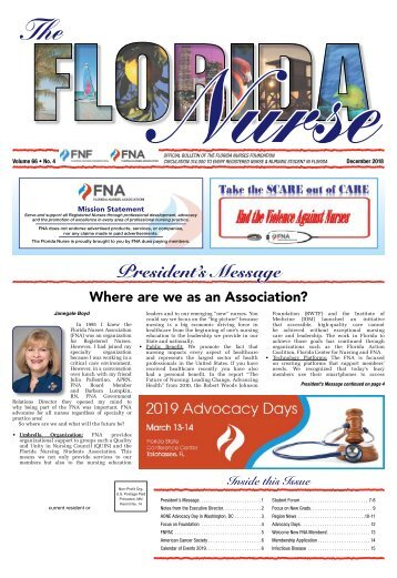 The Florida Nurse - December 2018