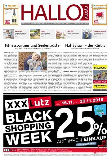 Hallo-Allgäu Memmingen vom Samstag, 17.November