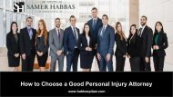 Tips to Choose a Good Personal Injury Attorney