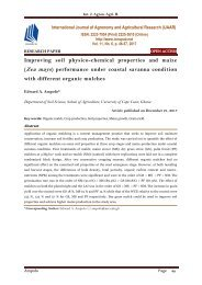 Improving soil physico-chemical properties and maize (Zea mays ) performance under coastal savanna condition with different organic mulches