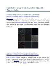 Supplier of Elegant Black Granite Imperial Exports India