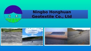 Take Geotextile Filter Fabric from Ningbo Honghuan Geotextile