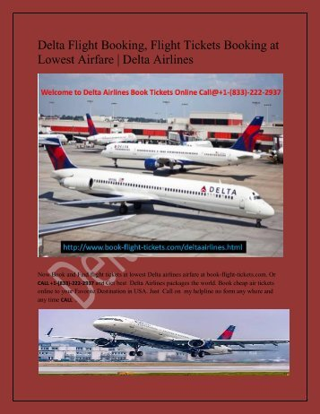 Delta Airlines Contact Number USA
