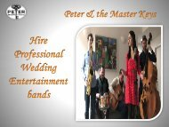 Book Wedding Entertainment bands for party