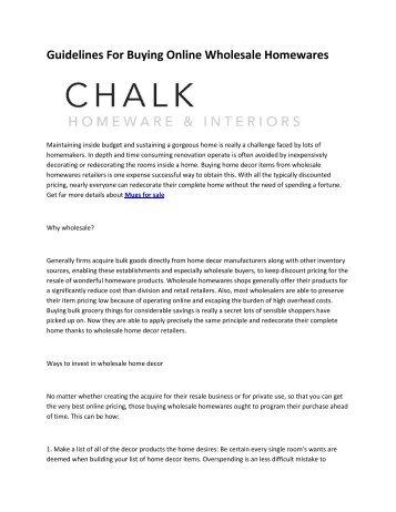 6 Chalk Homeware