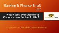 Banking & Finance Email List PDF