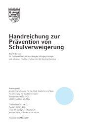Handreichung zur Prävention von ... - Schule - Hessen