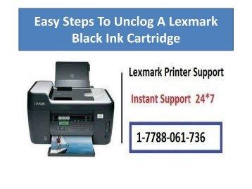 Easy Steps To Unclog A Lexmark Black Ink Cartridge-converted