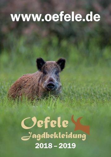 Jagdbekleidung Oefele Katalog 2018/2019