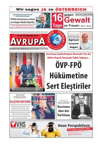 EUROPA JOURNAL - HABER AVRUPA NOVEMBER 2018