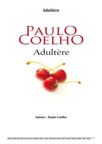 Gratis Boeken Adultère (PDF - ePub - Mobi) Van Paulo Coelho