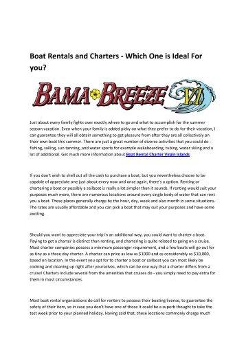 6 Boat Rental Charter St Thomas