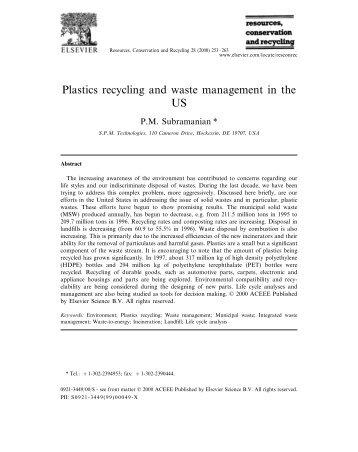 Article - Plastics recycling and waste management in the US, Quản lý và tái chế nhựa ở Hoa Kỳ (Vietsub)