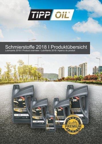 TIPPOIL PRODUKTÜBERSICH 2018