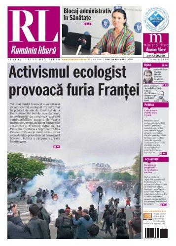 România liberă, luni, 19 noiembrie 2018