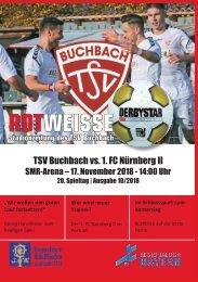 Stadionzeitung TSV Buchbach - 1.FC Nürnberg II