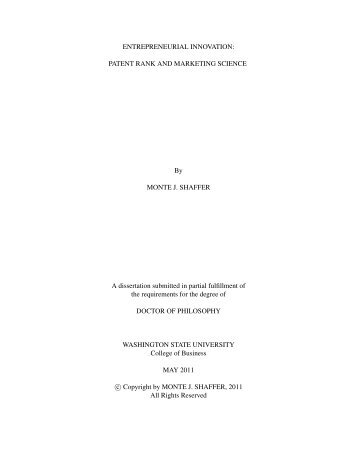 Entrepreneurial Innovation: Patent Rank and ... - Monte J. Shaffer