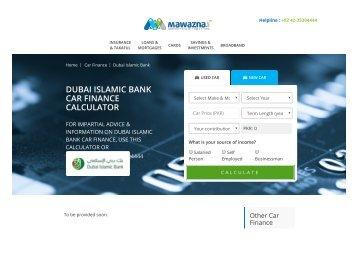 dubai islamic bank car loan calculator