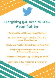 Everything You Need to Know About Twitter