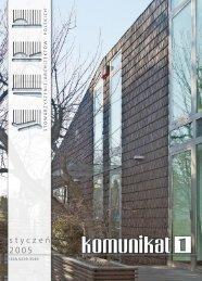 Pobierz Komunikat SARP 01/2005 - Stowarzyszenie Architektów ...