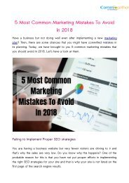 5 Most Common Marketing Mistakes To Avoid In 2018